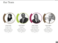 Our Team Ppt PowerPoint Presentation Gallery Professional