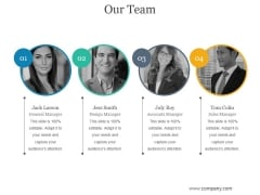 Our Team Ppt PowerPoint Presentation Graphics