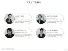 Our Team Ppt PowerPoint Presentation Icon Demonstration