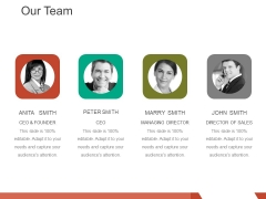 Our Team Ppt PowerPoint Presentation Icon Display
