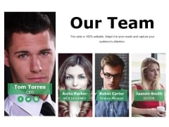 Our Team Ppt PowerPoint Presentation Icon Show