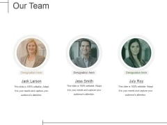Our Team Ppt PowerPoint Presentation Ideas Grid
