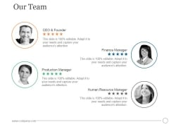 Our Team Ppt PowerPoint Presentation Influencers