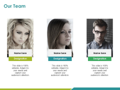 Our Team Ppt PowerPoint Presentation Infographic Template Layouts