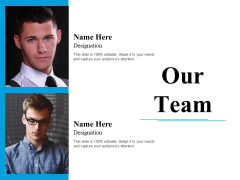 Our Team Ppt PowerPoint Presentation Infographic Template Outfit