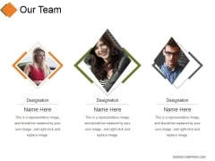 Our Team Ppt PowerPoint Presentation Infographics Deck