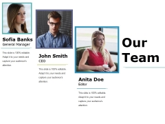 Our Team Ppt PowerPoint Presentation Inspiration Example