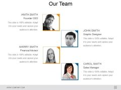 Our Team Ppt PowerPoint Presentation Inspiration Master Slide
