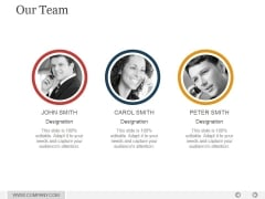 Our Team Ppt PowerPoint Presentation Layouts