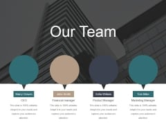 Our Team Ppt PowerPoint Presentation Layouts Smartart