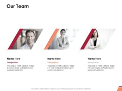 Our Team Ppt PowerPoint Presentation Model Gallery