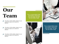 Our Team Ppt PowerPoint Presentation Model Infographic Template
