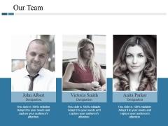 Our Team Ppt PowerPoint Presentation Model Portfolio