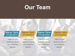 Our Team Ppt PowerPoint Presentation Model Samples