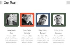 Our Team Ppt PowerPoint Presentation Model Topics