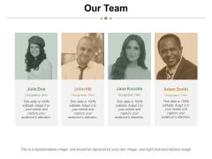 Our Team Ppt PowerPoint Presentation Portfolio Sample