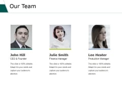 Our Team Ppt PowerPoint Presentation Professional Gallery