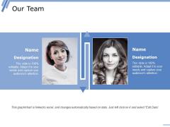 Our Team Ppt PowerPoint Presentation Show Design Ideas