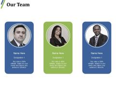 Our Team Ppt PowerPoint Presentation Slides Display