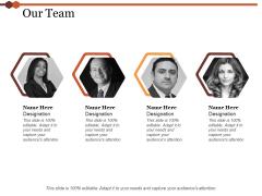 Our Team Ppt PowerPoint Presentation Slides Format Ideas
