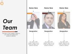 Our Team Ppt PowerPoint Presentation Slides Format