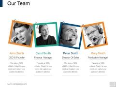 Our Team Ppt PowerPoint Presentation Slides Gridlines