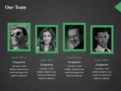 Our Team Ppt PowerPoint Presentation Slides Portrait