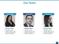 Our Team Ppt PowerPoint Presentation Styles Model