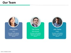Our Team Ppt PowerPoint Presentation Styles Slide