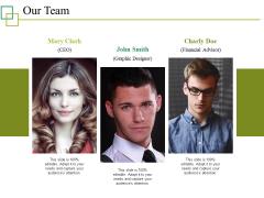 Our Team Ppt PowerPoint Presentation Summary Brochure