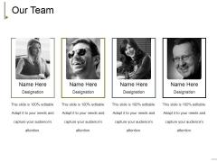 Our Team Ppt PowerPoint Presentation Summary Format Ideas