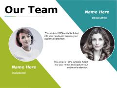 Our Team Ppt PowerPoint Presentation Summary Vector
