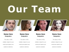 Our Team Ppt PowerPoint Presentation Template