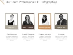 Our Team Professional Ppt PowerPoint Presentation Inspiration
