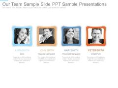 Our Team Sample Slide Ppt Sample Presentations