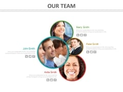 Our Team Slide With Photos Powerpoint Slides