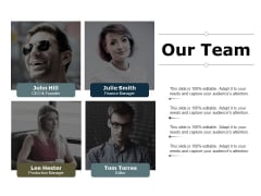 Our Team Team Work Ppt PowerPoint Presentation Show Icons
