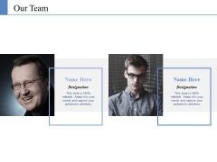 Our Team Template 1 Ppt PowerPoint Presentation Ideas Example