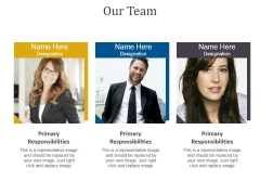 Our Team Template 2 Ppt PowerPoint Presentation Icon Templates