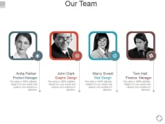 Our Team Template 2 Ppt PowerPoint Presentation Ideas Graphics Design