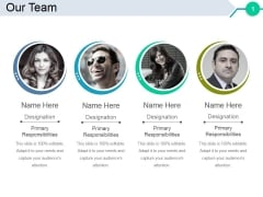Our Team Template 2 Ppt PowerPoint Presentation Inspiration Slide Portrait