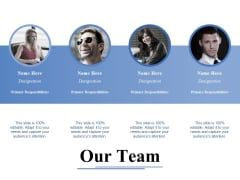 Our Team Template 2 Ppt PowerPoint Presentation Model Layout