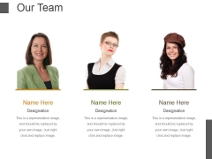 Our Team Template 2 Ppt PowerPoint Presentation Portfolio Examples
