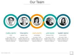 Our Team Template 2 Ppt PowerPoint Presentation Professional Icon