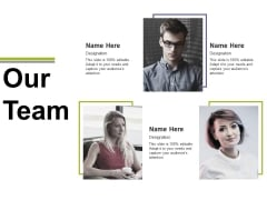 Our Team Template 2 Ppt PowerPoint Presentation Professional Sample