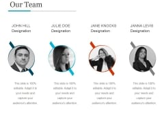 Our Team Template Ppt PowerPoint Presentation Influencers