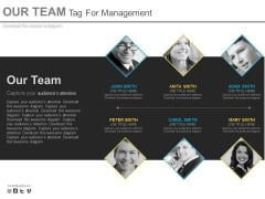 Our Team With Different Skills Powerpoint Slides