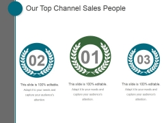 Our Top Channel Sales People Ppt PowerPoint Presentation Summary