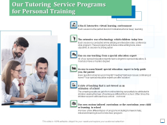 Our Tutoring Service Programs For Personal Training Ppt Inspiration Gridlines PDF