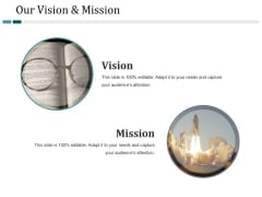 Our Vision And Mission Ppt PowerPoint Presentation Infographic Template Ideas